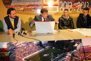 Ferrigno, Lo Monaco, Caturano e Franco in conferenza stampa (foto Paolo Furrer)