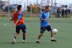 """Il capitano Mirco Camarda in azione al """"Garden Sport"""" di Mili Marina"""