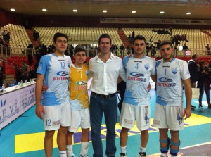 Omar Pelillo con i suoi giovani: Guglielmo, Mirenda, Vitanza e Bonina