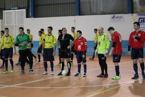 Savio Messina e OrSa Barcellona schierate prima dell'inzio del match