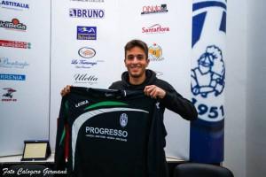 Il difensore Giuseppe Calderone, riaggregatosi all'Orlandina