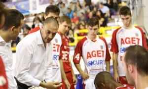 Esposito nel ruolo di coach dell'Aget Imola