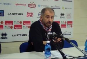 Fabio Corbani (Biella) in sala stampa