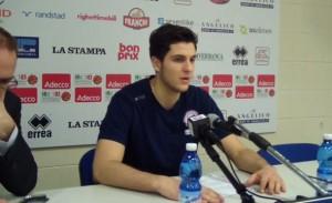 Nicolò De Vico (Biella) in conferenza stampa