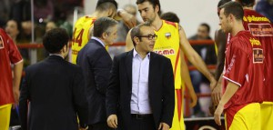 Ugo Ducarello con Mauro Pinton, il play è sulla via del completo recupero