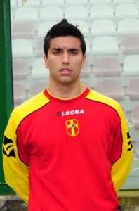 Cristian D'Angelo, autore del gol della vittoria per il Rometta