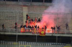 Festa grande per i sostenitori giallorossi al seguito (foto Bruno Cuteri - Paolo Furrer)