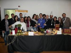 La delegazione al pranzo siciliano
