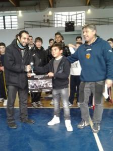 La premiazione del giovanissimo Andrea Caruso