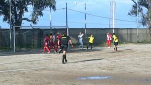 Una fase del match fra Rometta e Catania San Pio X