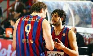 Marconato e Basile in maglia Barcellona