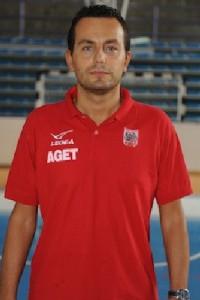 L'allenatore Federico Vecchi (Aget Imola)