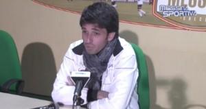 Il tecnico Gianluca Grassadonia in conferenza stampa