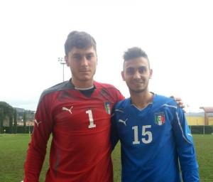 Lagomarsini e Silvestri con l'Italia Under 20 di Lega Pro