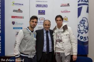 Il presidente Romagnoli tra i nuovi arrivati Luca Scordino e Gianluca Maresca
