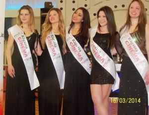 Le 5 ragazze per il Cinema: da sinistra Annalisa Rizzo, Silvia Cambrìa, Laura Panarello, Roberta Casagrande e Desy Mazza (scatto di R.S.)