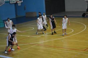 I giocatori dello Sport Patti in azione