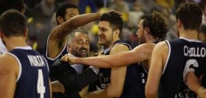 Fabio Corbani (Angelico Biella) festeggia un successo della sua squadra