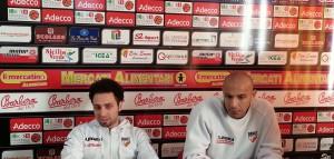 L'assistant caoch Francesco Trimboli e il pivot Fiorello Toppo