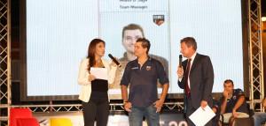 Il team manager della Sigma MAuro Saja nel giorno della presentazione estiva della squadra a Calderà