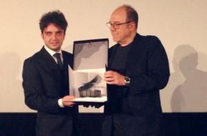 Fabio Schifilliti premiato da Carlo Verdone