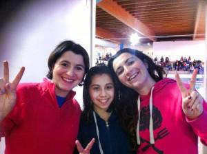 Giada D'Arrigo, assieme alle allenatrici Cinzia e Consuelo Cucinotta