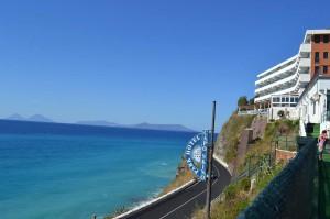 Uno scorcio del panorama offerto dall'Hotel Capo Skino di Gioiosa Marea, dove alloggeranno le finaliste regionali di Miss Mondo