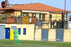 I tifosi igeani presenti a Mascalucia
