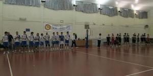 Letojanni-Ottica Sottile. Le due squadre schierate prima della gara