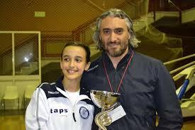 Marta Cannata con il maestro Fabrizio Papalia