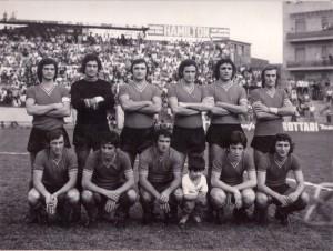 Una formazione dell'ACR Messina della stagione 1973-74