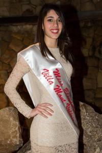 """La """"Miss Eleganza"""" Giulia Cardullo: un sorriso somigliante a quello di Belen Rodriguez."""