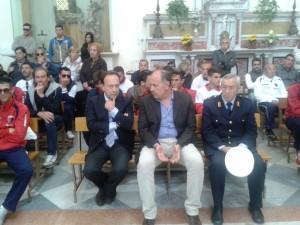 Il sindaco di Milazzo Carmelo Pino e l'assessore allo sport Pippo Midili (foto Carmelo Amato)