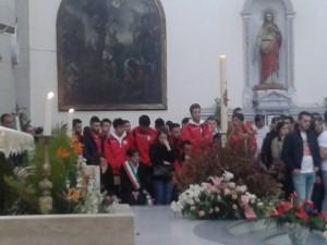 La formazione del Due Torri ed il sindaco di Piraino Gina Maniaci (foto Carmelo Amato)