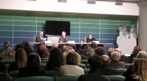 """Una fase della conferenza stampa di presentazione di """"Teatranti"""""""