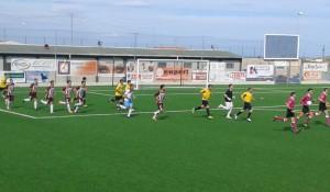 Rosolini-Rometta 2-0, l'ingresso delle due squadre in campo