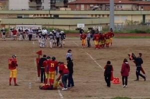 Una immagine del match fra Achei Crotone e Caribdes Messina
