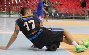 Leonardo Ciribeni in una fase di lavoro atletico