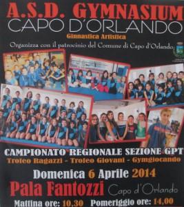 Manifesto del Campionato Regionale di Ginnastica Artistica