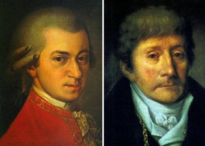Ritratti di Mozart e Salieri
