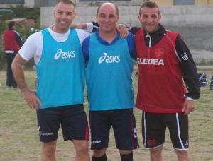 Da sinistra i veterani Angelo Coppola, Alessandro Pinizzotto e Luca La Speme (scatto di R.S.)