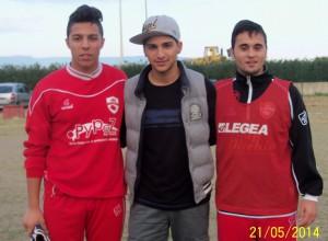 tre dei campioni regionali juniores: da sinistra Michael Cisterna, Lillo Di Pietro e Simone De Grazia (scatto di R.S.)