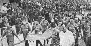 1962-63 festa per la promozione in serie A