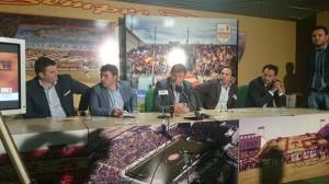 I protagonisti della conferenza stampa