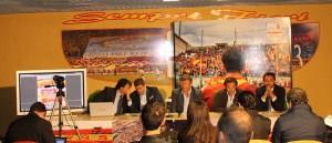 Un momento della partecipata conferenza stampa (foto Paolo Furrer)