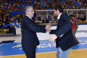 Calvani e Pozzecco, i due coach