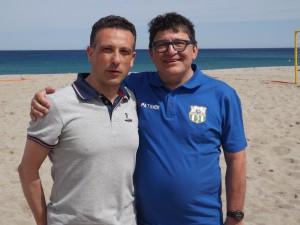 Il presidente Giacomo Picciolo con il responsabile tecnico Eraldo Pecci