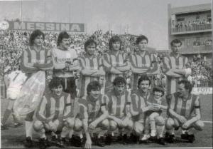 Una formazione del Messina, stagione 1982-83