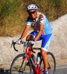 Il dirigente-ciclista Angelo D'Agata