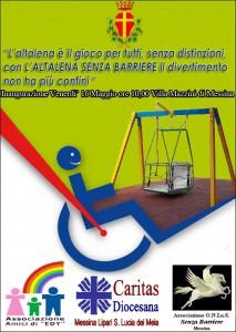 """La locandina dell'iniziativa denominata """"Dondoliamo senza barriere"""""""